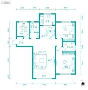 新河湾3室2厅2卫125平方米户型图