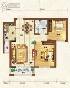 重邦康城2室2厅1卫94平方米户型图