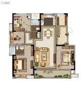 苏州鲁能公馆4室2厅2卫128平方米户型图