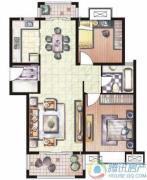 天和湖滨2室2厅1卫97平方米户型图