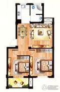 银兰公寓2室2厅1卫82平方米户型图