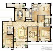 华润橡树湾4室2厅3卫216平方米户型图