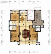 盛世森林花园3室2厅2卫143平方米户型图