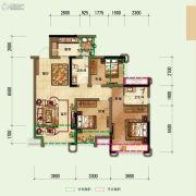 鼎晟泓府・天誉3室2厅2卫98平方米户型图