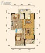 泰然南湖玫瑰湾2室2厅2卫126平方米户型图