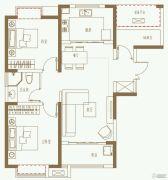 利港银河广场3室2厅1卫99平方米户型图