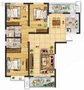 守拙园3室2厅2卫141平方米户型图