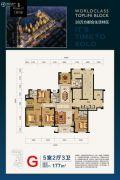 恒嘉 现代城5室2厅3卫177平方米户型图