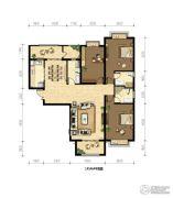 御府山海观3室2厅3卫0平方米户型图