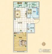 旗凯丽园1室2厅1卫0平方米户型图