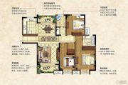 中南锦城4室2厅2卫142平方米户型图