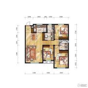 万科明天广场3室1厅2卫0平方米户型图