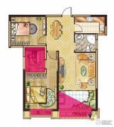 中大城3室2厅1卫82平方米户型图
