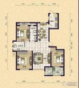 紫鑫苑3室2厅2卫146平方米户型图