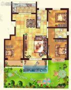 金色家园3室2厅2卫143平方米户型图