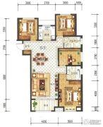 兰石豪布斯卡4室2厅2卫143平方米户型图