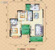 梅溪峰汇3室2厅2卫115平方米户型图