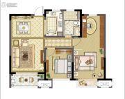 九龙仓玺园2室2厅1卫97平方米户型图