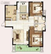 永威城3室2厅2卫120平方米户型图