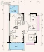 黄杨・明月轩2室2厅1卫69平方米户型图