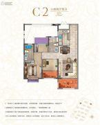 宝龙世家3室2厅2卫94平方米户型图