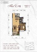 天元・美居乐1室2厅1卫57平方米户型图