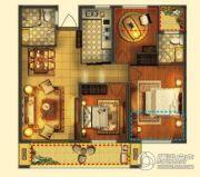 梦享城3室2厅2卫88平方米户型图