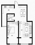 假日风景1室1厅1卫86平方米户型图