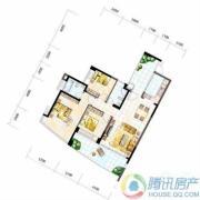 雅居乐十里花巷3室2厅2卫120平方米户型图