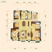 金地檀府3室2厅2卫140平方米户型图