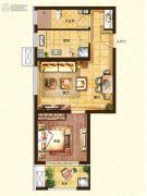 济南世茂天城1室2厅1卫57平方米户型图
