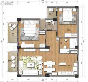 观澜湖3室2厅1卫130平方米户型图