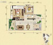 夜月风光・上城2期2室2厅1卫86平方米户型图