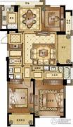 融创常州御园3室2厅2卫140平方米户型图