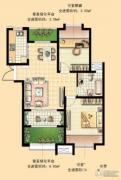 国基城邦逸境2室2厅0卫79平方米户型图