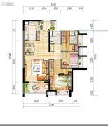 时代廊桥(增城)3室2厅1卫83平方米户型图