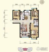 明瀚花香城3室2厅2卫119平方米户型图