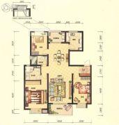 招商海公馆3室2厅2卫129平方米户型图
