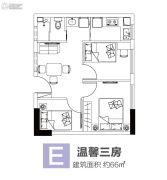 涌鑫八达通广场3室1厅1卫66平方米户型图