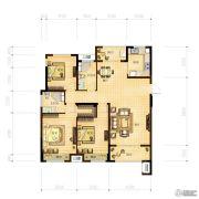 林立欣园3室2厅2卫130平方米户型图