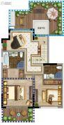 鲁能地产-吴蠡雅苑3室2厅3卫149平方米户型图