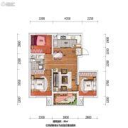 万科翡翠公园3室2厅1卫88平方米户型图