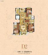 银河名苑3室2厅3卫171平方米户型图