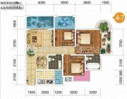 双发广场3室2厅2卫109平方米户型图