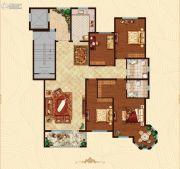 万国园白金汉府4室2厅2卫176平方米户型图