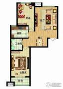 燕西台2室2厅1卫89平方米户型图