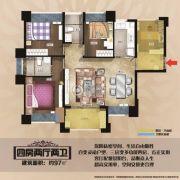 万威雅仕郡4室2厅2卫96平方米户型图