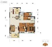 美的・明湖3室2厅2卫106平方米户型图