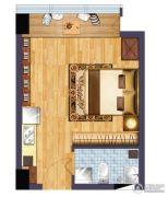 绿地商务城1室1厅1卫37平方米户型图
