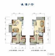 正和城2室2厅1卫100--101平方米户型图